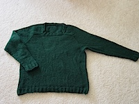 Green Saddle Sweater