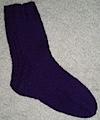 Purple Clog Sock